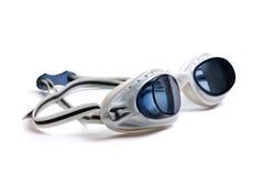 Occhiali di protezione per nuoto Fotografie Stock Libere da Diritti