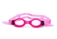 Occhiali di protezione rosa di nuotata Fotografia Stock Libera da Diritti