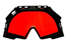Occhiali di protezione rossi dello sci Fotografie Stock