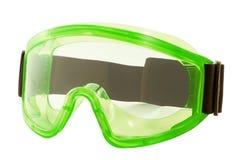 Occhiali di protezione su una priorità bassa bianca Fotografia Stock Libera da Diritti