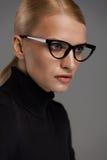 Occhiali femminili Bella donna in vetri, occhiali Immagine Stock Libera da Diritti