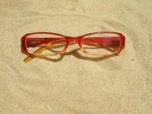 Occhiali rossi Fotografie Stock Libere da Diritti