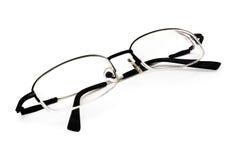 Occhiali su bianco Fotografia Stock