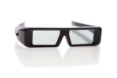 Occhiali Three-D (3D) per affissione a cristalli liquidi TV Immagine Stock Libera da Diritti