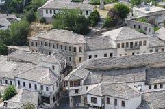 Occhiata Albania Europa di Gjirokastra Fotografia Stock Libera da Diritti