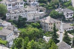 Occhiata Albania Europa di Gjirokastra Immagini Stock