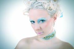 Occhiata blu Fotografie Stock Libere da Diritti