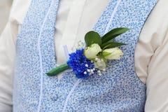 Occhiello degli accessori di nozze fotografia stock