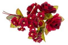 Occhiello dei fiori artificiali rossi Fotografia Stock Libera da Diritti