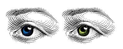Occhio   illustrazione di stock