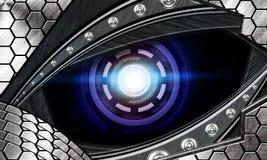 Occhio astratto del robot Fotografie Stock Libere da Diritti