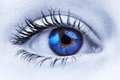 Occhio azzurro astratto Immagini Stock