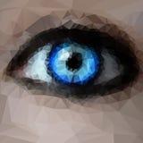 Occhio azzurro dai poligoni Fotografia Stock Libera da Diritti