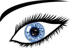 Occhio azzurro del ghiaccio con le sferze Fotografia Stock Libera da Diritti