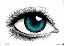 Occhio azzurro femminile dell'illustrazione creato dai poligoni royalty illustrazione gratis