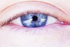 Occhio azzurro umano Immagini Stock Libere da Diritti