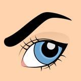 Occhio azzurro umano Fotografia Stock
