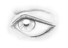 Occhio in in bianco e nero Fotografia Stock