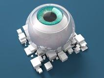 Occhio bionico blu Fotografia Stock