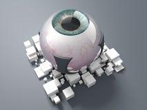 Occhio bionico blu Fotografia Stock Libera da Diritti