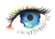 Occhio blu Fotografia Stock
