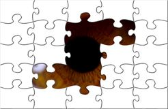 Occhio che osserva con il puzzle royalty illustrazione gratis