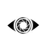 Occhio con l'apertura di fotografia Fotografia Stock