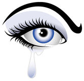 Occhio craying blu Immagine Stock Libera da Diritti