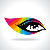 Occhio creativo Colourful nel concetto del progettista Fotografie Stock Libere da Diritti
