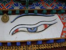 Occhio del Buddha immagine stock libera da diritti