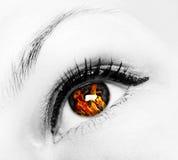 Occhio del fuoco Immagini Stock