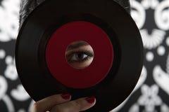 Occhio del record Fotografie Stock