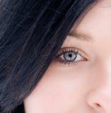 Occhio dell'adolescente Immagini Stock