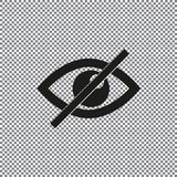 Occhio dell'icona di vettore proibito Fotografia Stock Libera da Diritti