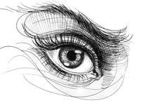 Occhio dell'inchiostro Fotografia Stock Libera da Diritti