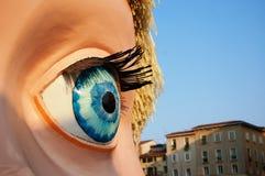 Occhio della bambola Immagini Stock