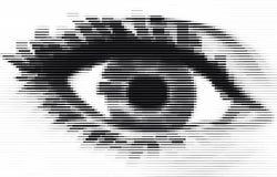 Occhio della banda Fotografia Stock