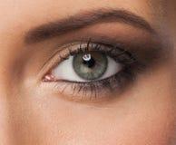 Occhio della donna con trucco fotografia stock libera da diritti