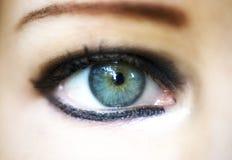 Occhio della donna del primo piano Fotografia Stock Libera da Diritti