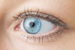 Occhio della donna del primo piano Fotografie Stock