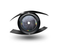 Occhio della macchina fotografica Fotografia Stock