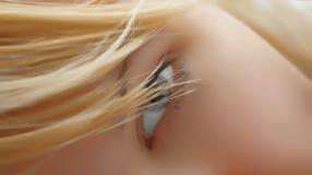 Occhio della ragazza Immagini Stock