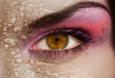 Occhio delle zombie fotografie stock libere da diritti