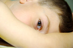 Occhio di Childs immagini stock