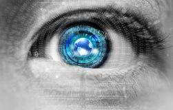 Occhio di dipendenza da Internet Fotografia Stock