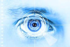 Occhio di esplorazione di tecnologia per obbligazione o identificazione Fotografia Stock