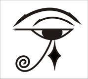 Occhio di Horus - simbolo egiziano Immagini Stock