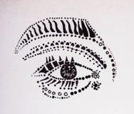 Occhio di Humen con le forme su una carta di Whilte illustrazione vettoriale