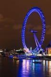 Occhio di Londra alla notte immagine stock libera da diritti