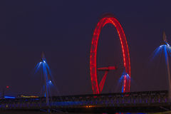 Occhio di Londra alla notte Immagini Stock Libere da Diritti